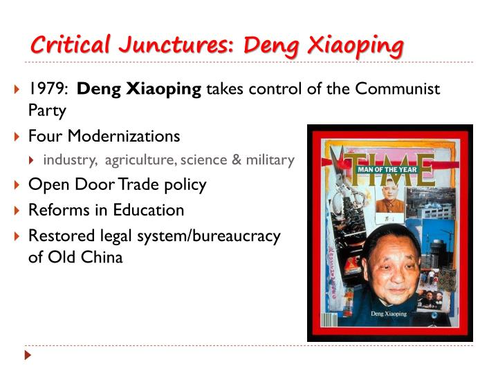 the legacy of deng xiaoping essay The legacy of deng xiaoping essay the legacy of deng xiaoping deng xiaoping was born is 1904 in sichuan province he died in 1997 he was the general secretary of the communist party.