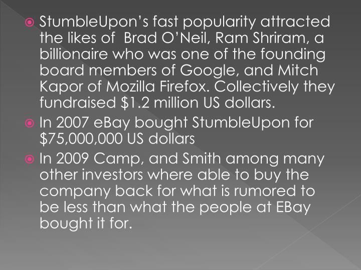 StumbleUpon's