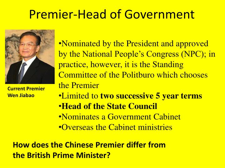 Premier-Head of Government
