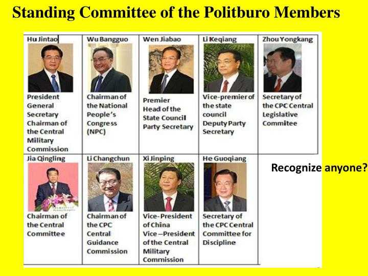 Standing Committee of the Politburo Members