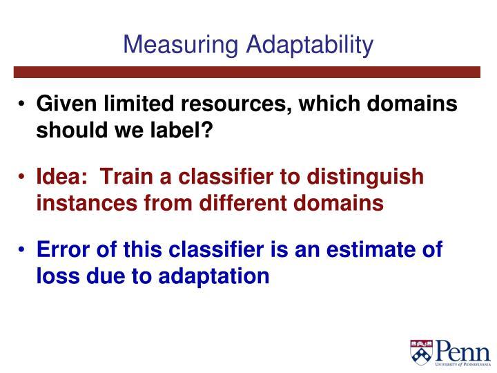 Measuring Adaptability
