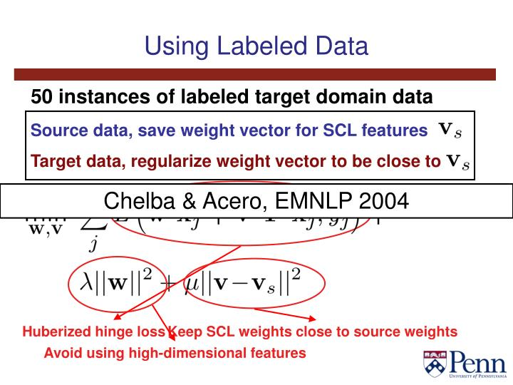 Using Labeled Data