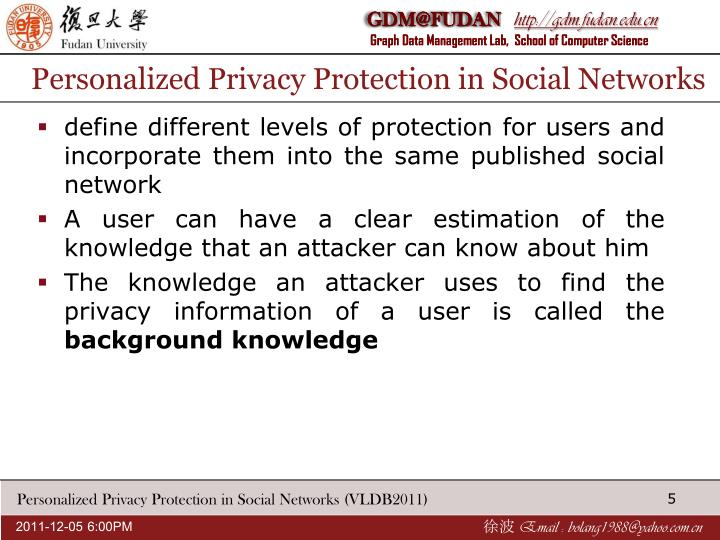 Personalized Privacy Protection in Social Networks