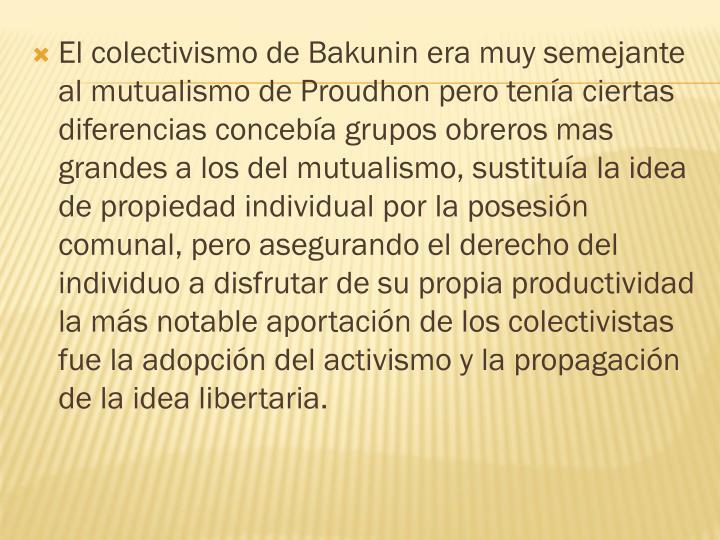 El colectivismo de