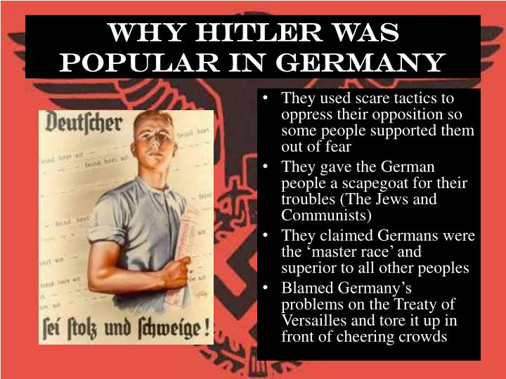 why was hitler able to dominate Adolf hitler is considered to be perhaps the most villainous man of the twentieth century his vile and ruthless deeds are common knowledge in fact, the name hitler has now become synonymous with evil what many often forget, however, is that hitler was not only a coldblooded tyrant but that also a.