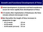 growth and functional development of fetus
