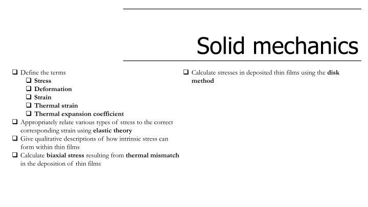 Ppt Solid Mechanics Point