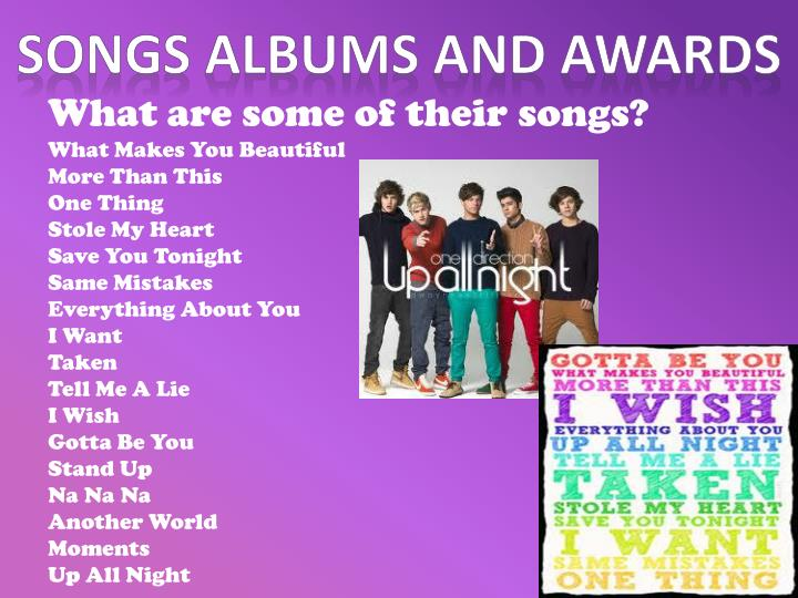 Songs Albums and awards
