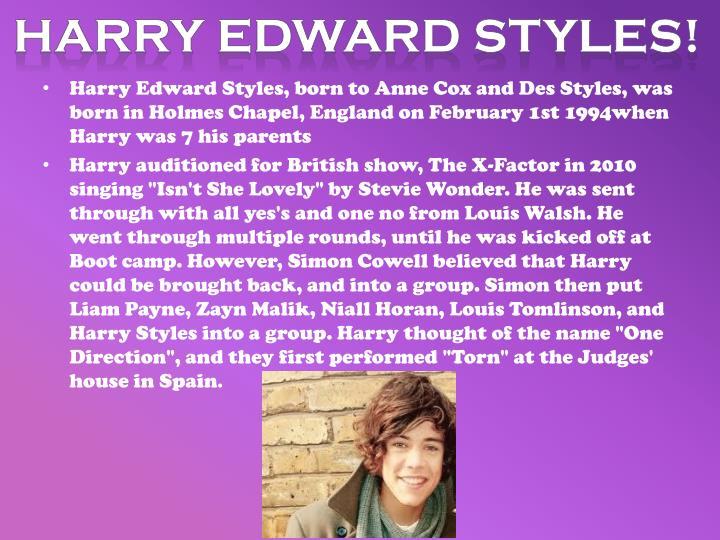 Harry Edward styles!