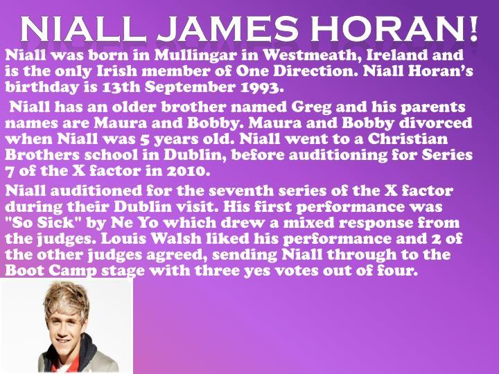 Niall James Horan!