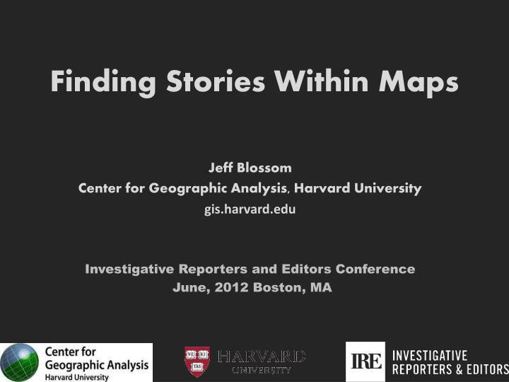 PPT - Finding Stories Within Maps PowerPoint Presentation - ID:1859692