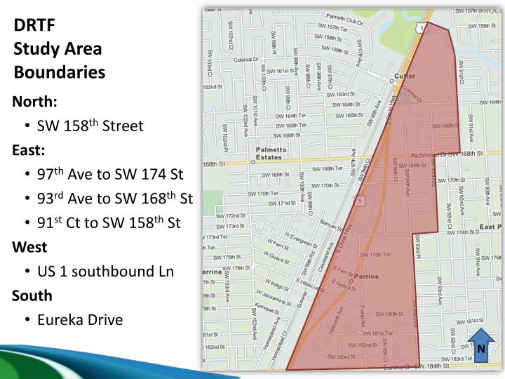 Drtf study area boundaries