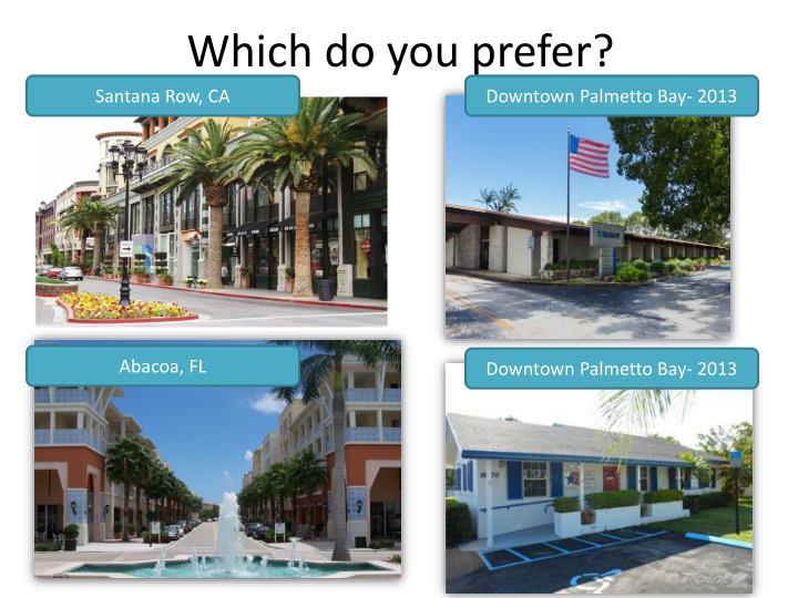 Which do you prefer?