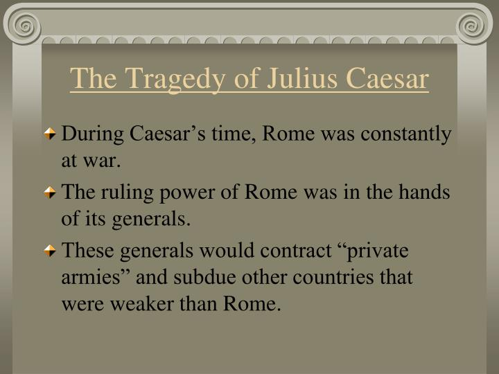 dramatic irony used in the tragedy of julius caesar Julius caesar read the sparknote.