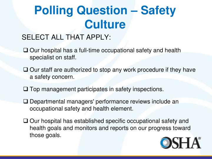 Polling Question – Safety