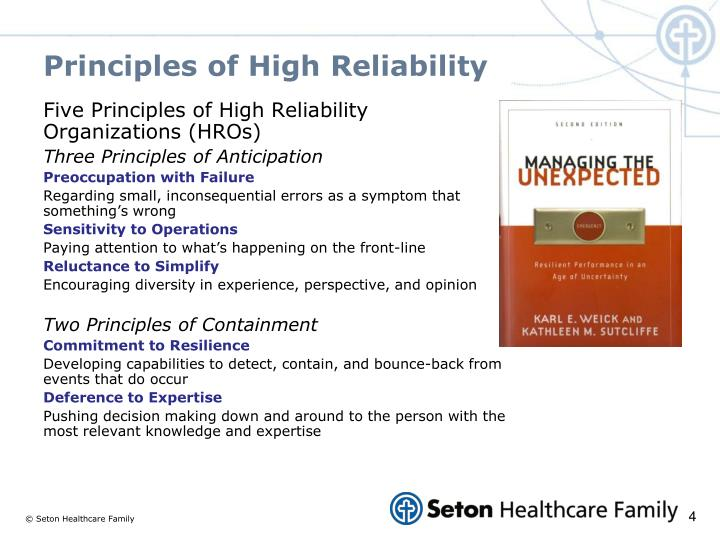 Principles of High Reliability