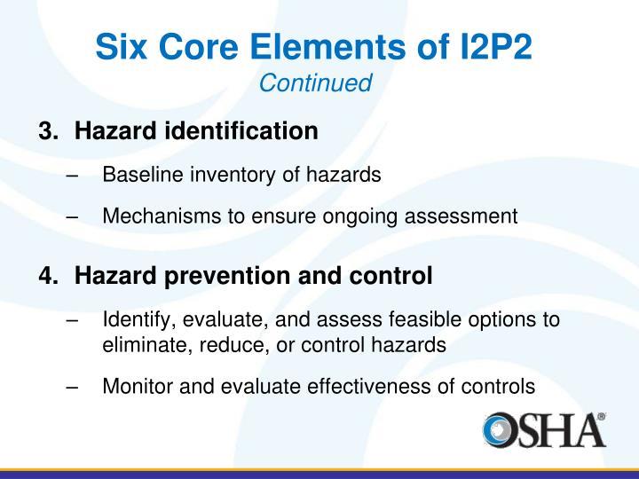 Six Core Elements of I2P2