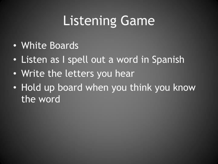 listening game