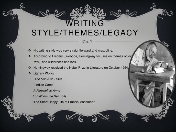 Ppt The Life Of Ernest Hemingway Powerpoint Presentation Id1860268