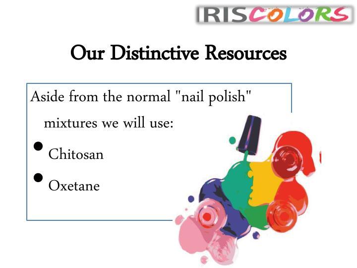Our Distinctive Resources