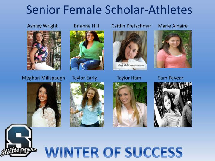 Senior female scholar athletes