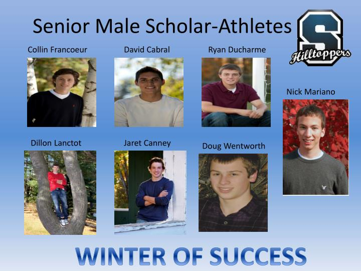 Senior male scholar athletes