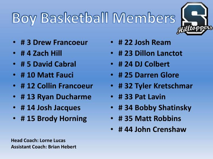 Boy Basketball Members