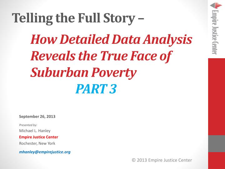 how detailed data analysis reveals the true face of suburban poverty part 3 n.
