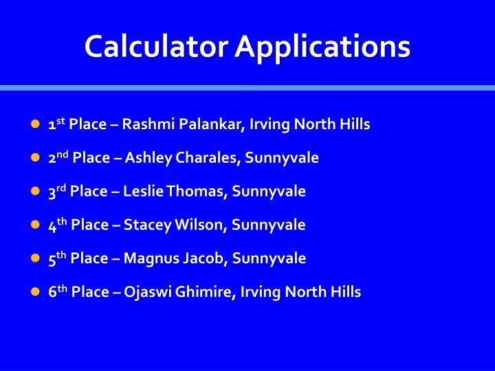 Calculator Applications