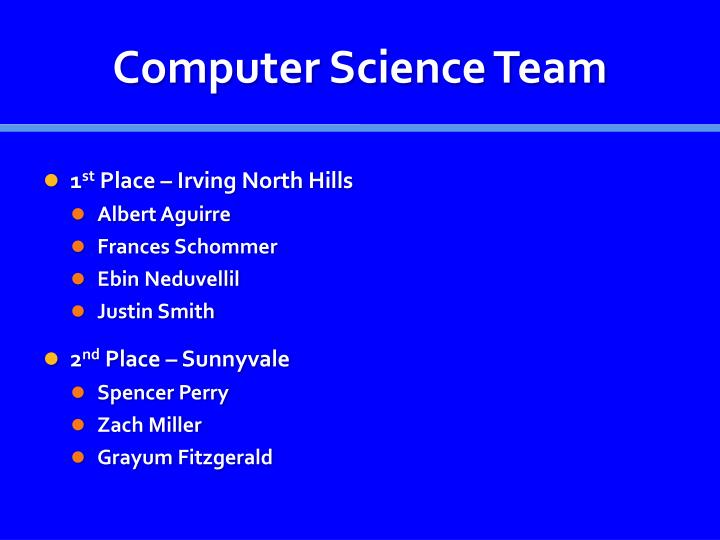 Computer Science Team