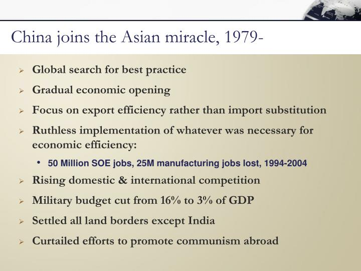 China joins the Asian miracle, 1979-