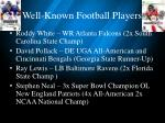 well known football players
