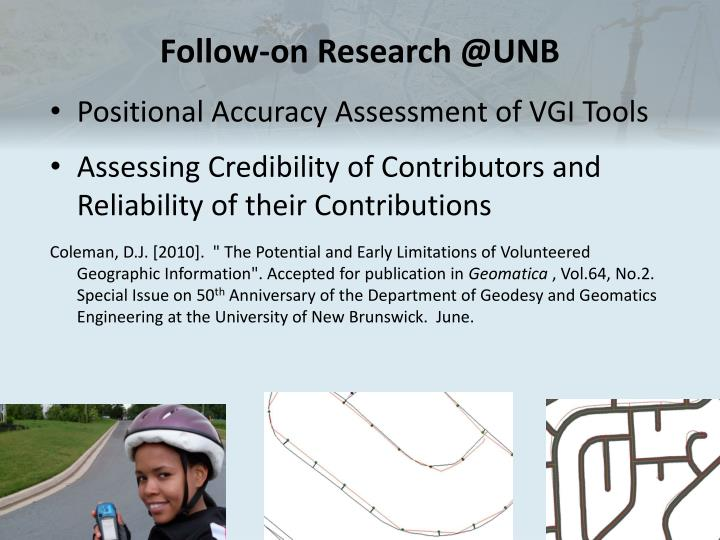 Follow-on Research @UNB