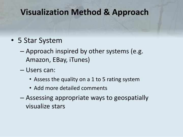 Visualization Method & Approach