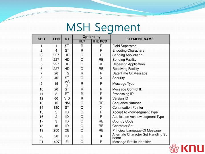 MSH Segment