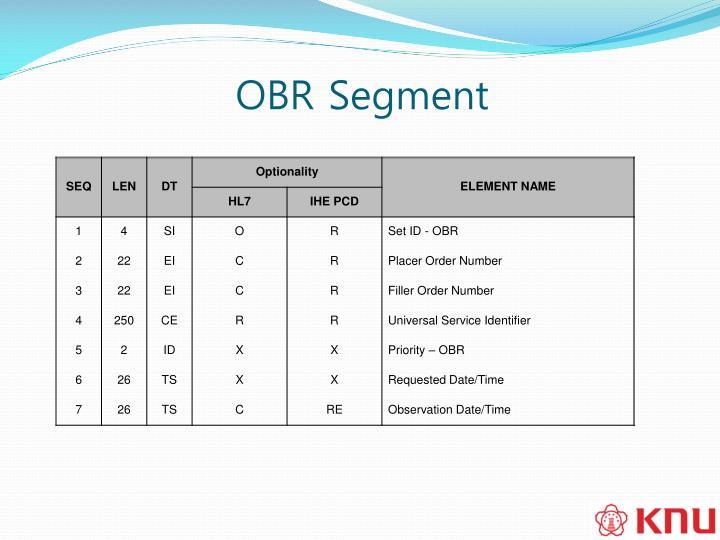 OBR Segment
