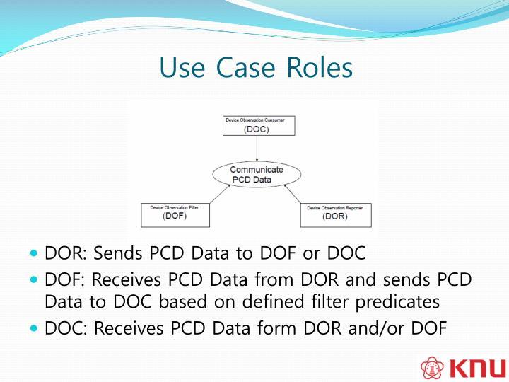 Use Case Roles