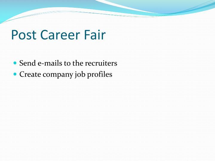 Post Career Fair