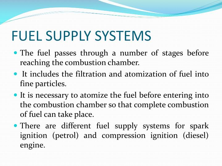 fuel supply systems n.
