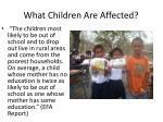 what children are affected