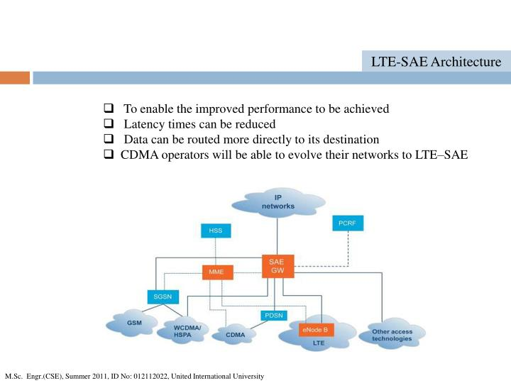 LTE-SAE Architecture