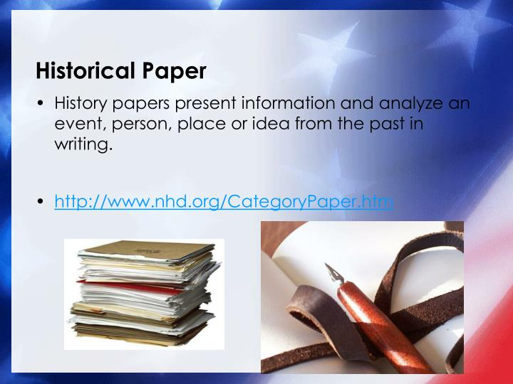 Historical Paper