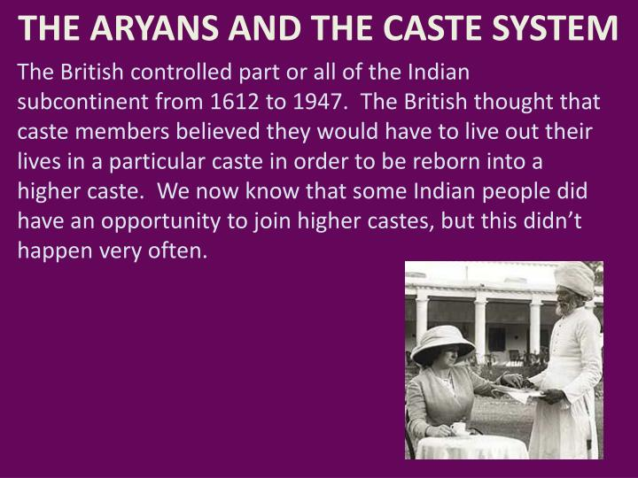 british caste system