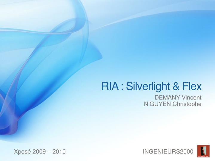 ria silverlight flex n.