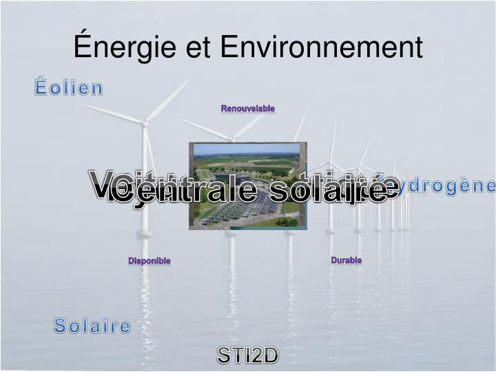 Énergie et Environnement