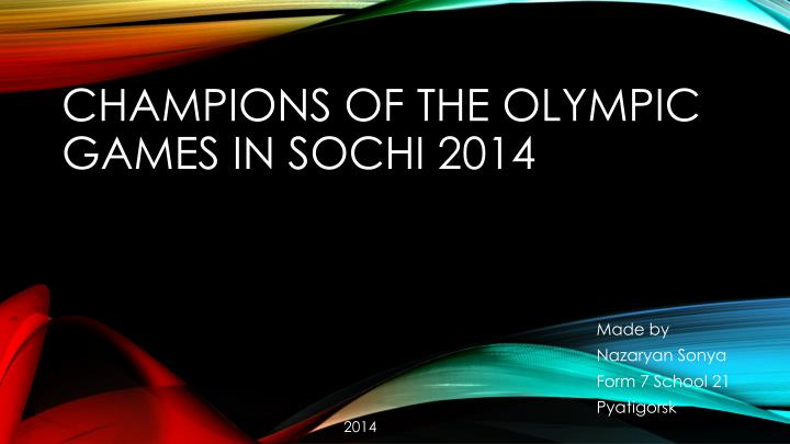 champions of the olympic games in sochi 2014 n.