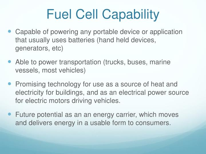 Fuel Cell Capability