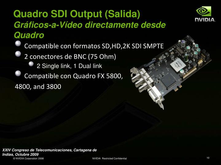Quadro SDI Output (