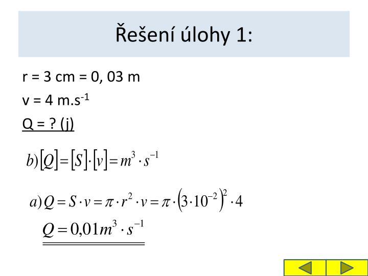 Řešení úlohy 1: