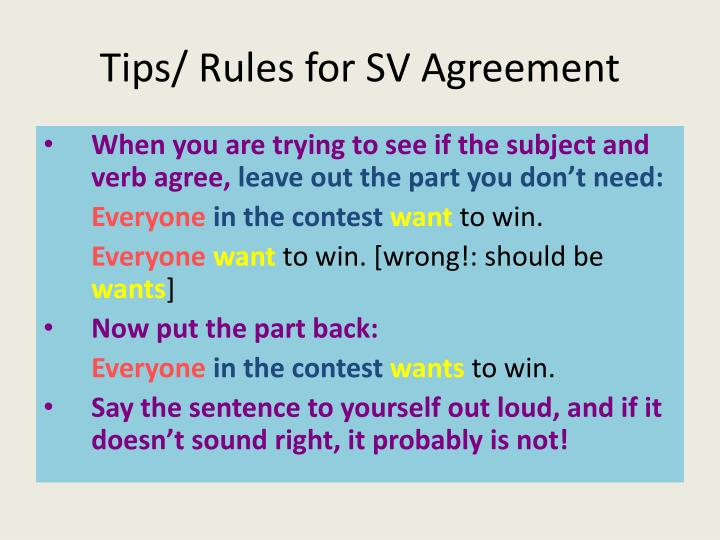 Ppt Subject Verb Agreement Powerpoint Presentation Id1861534